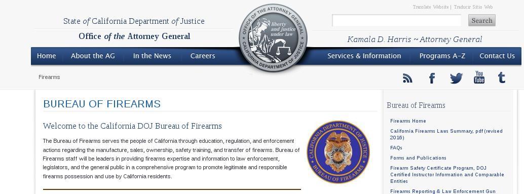 CA DOJ CFLC Helpful Info